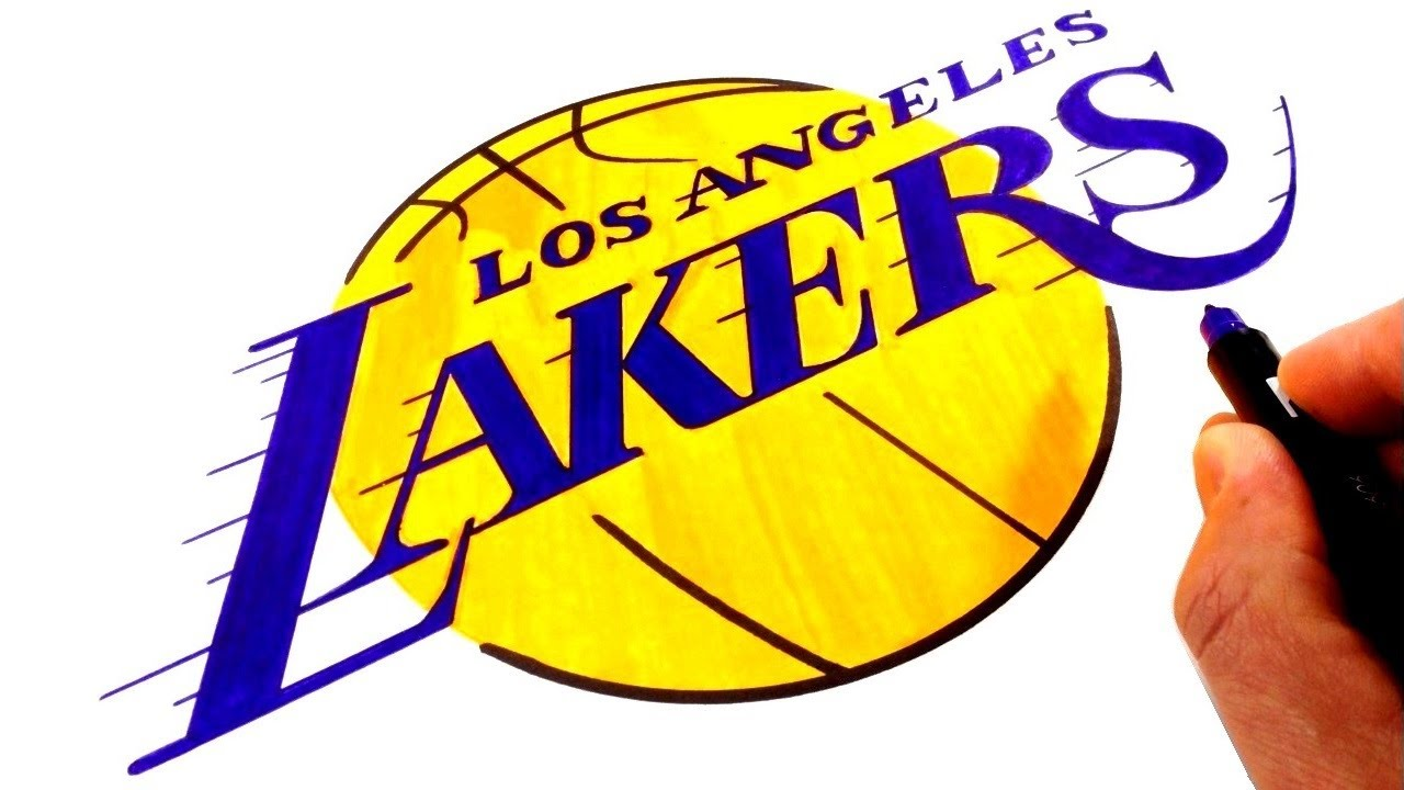 How To Draw The Los Angeles Lakers Logo Youtube