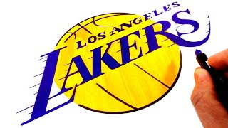 How to Draw the Los Angeles LAKERS Logo