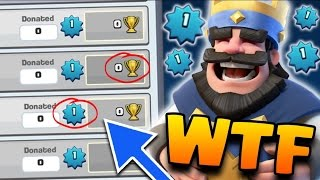 "Clash Royale - ""HACKED CLAN? WTF!"" (LEVEL 1 IN A CLAN) Crazy New Clash Royale Glitch / Bug 2016!"