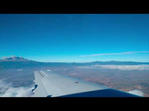 Flight taking off from Puebla Mexico