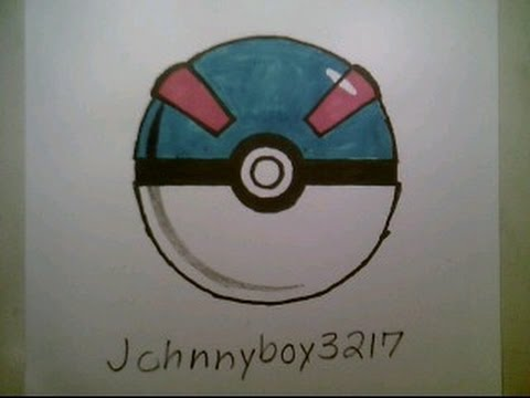 How to draw pokemon great ball pokeball go 3d easy step by tutorial iphone game