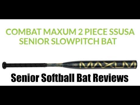 Senior Softball Bat Reviews (Combat two piece Maxum)
