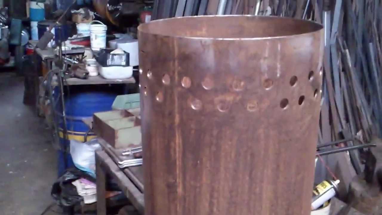 stufa pirolitica home made per riscaldare  YouTube