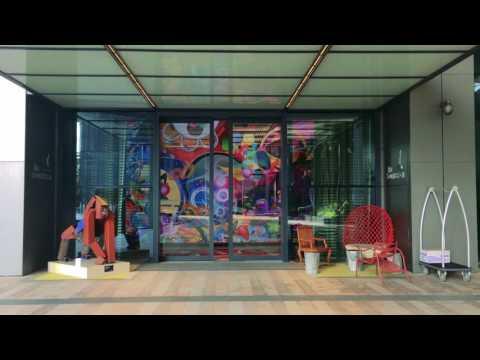 South Beach Singapore Video Screen