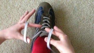 Как очень быстро завязать шнурки!