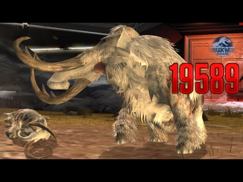 WOOLLY MAMMOTH - FIRST GLACIER ARENA BATTLE || Jurassic World The Game