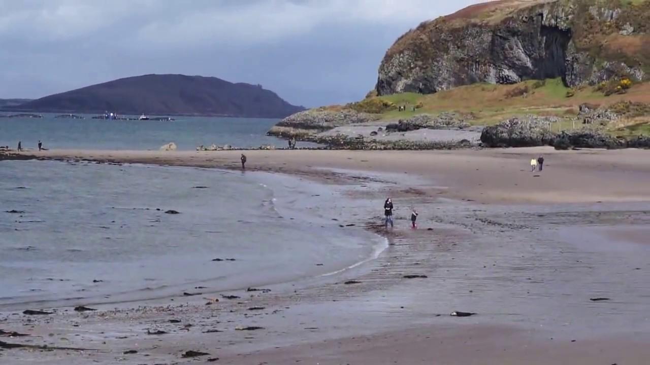 Ganavan Sands Beach Oban West Coast Of Scotland Uk