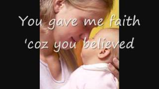 Because You Loved Me, Celine Dion (with Lyrics) - Dedication to Mothers thumbnail
