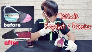 Cara Recolor Sepatu Kanvas | Merubah Warna Sepatu