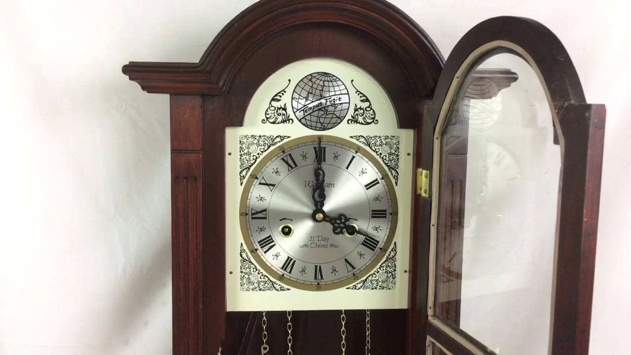 Vintage waltham tempus fugit 31 day wall clock chimes working vintage waltham tempus fugit 31 day wall clock chimes working pendulum rare old amipublicfo Image collections
