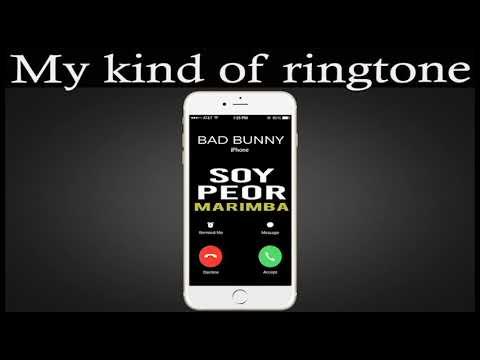 Latest iPhone Ringtone - Soy Peor Marimba Remix Ringtone - Bad Bunny