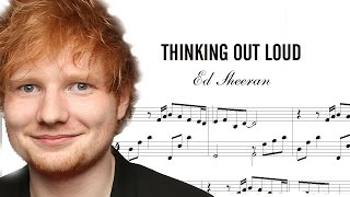 DESCARGAR Partitura de ED SHEERAN Thinking out Loud DOWNLOAD Score