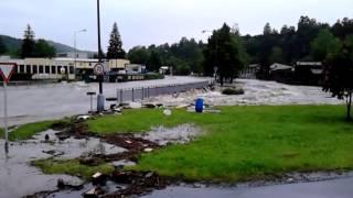 Povodně 2013 - Český Krumlov 2.6. 2013