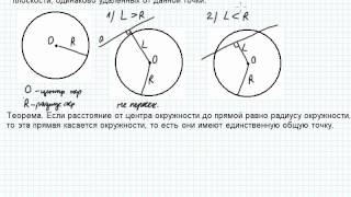 Б4.2 Взаимное расположение прямой и окружности