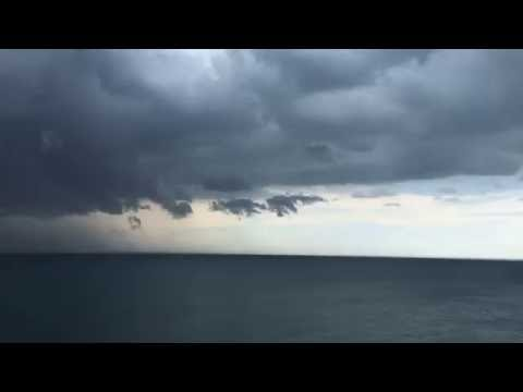 Storm brewing over Lake Michigan