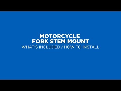 Quad Lock How To - Motorcycle Fork Stem Smartphone Mount (2019)