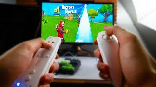 I WIN Fortnite with a Wii Controller