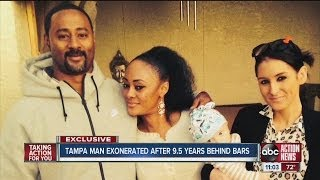 Tampa man exonerated after 9 1/2 years behind bars