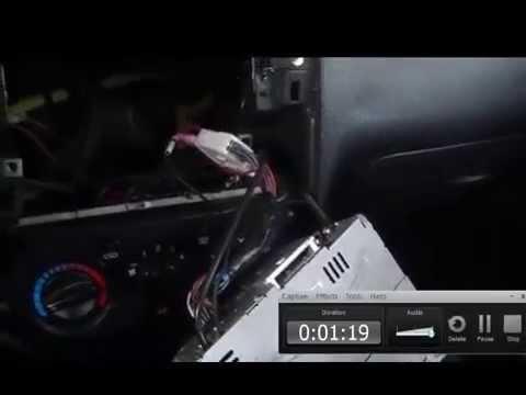 2008 chevy aveo remove stereo - YouTube