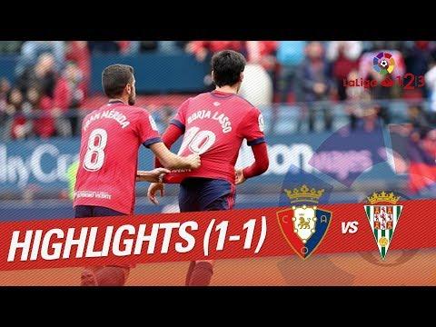 Resumen de Osasuna vs Córdoba CF (1-1)