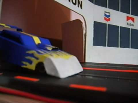 Slot Car Drag Racing With Parachute Youtube