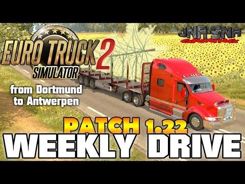 ETS 2 WEEKLY DRIVE | Dortmund to Antwerpen Peterbilt 387 | PATCH 1.21