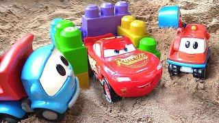 Spielzeugvideo für Kinder - Leo der Lastwagen und McQueen im Sandkasten