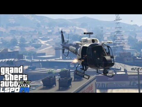 GTA 5 LSPDFR Police Mod 177   Swat Helicopter Patrol   Noose Air Support Taking Out Armed Targets