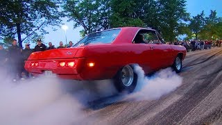 Muscle Car Paradise! - Vantaa Cruising 8/2017 (Smoky Burnouts!!)