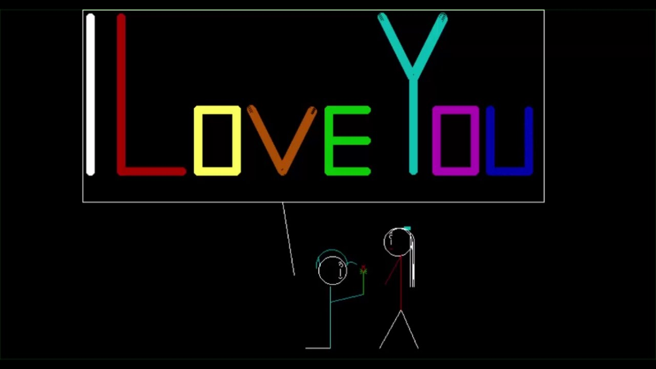 C++ I LOVE YOU program to propose your lover - YouTube