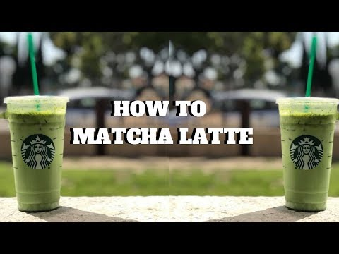 HOW TO: ICED MATCHA GREEN TEA LATTE