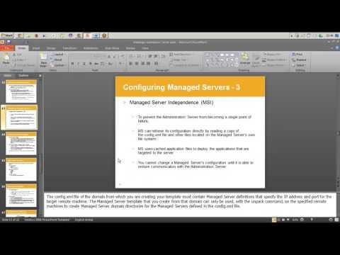 Weblogic Training - Session 4 - Managed Server Concepts 2 - MSI Mode