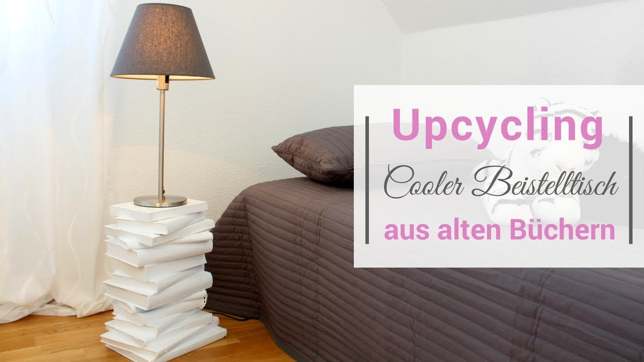 upcycling tisch aus b chern youtube. Black Bedroom Furniture Sets. Home Design Ideas
