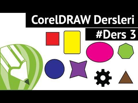 Corel Draw Ile Grafik Tasarım - Temel Geometrik Şekillerin Çizim Mantığı #Ders3