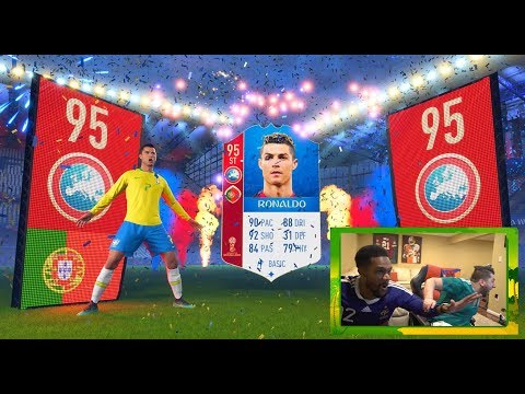 WE PULLED MESSI AND RONALDO!! - FIFA 18 WORLD CUP ULTIMATE TEAM