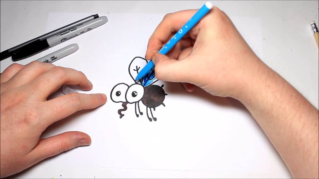 Uncategorized How To Draw Flies easy how to draw a cartoon fly for kids youtube kids