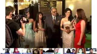 Stunning Sridevi with her family at IIFA Awards 2013 Green Carpet