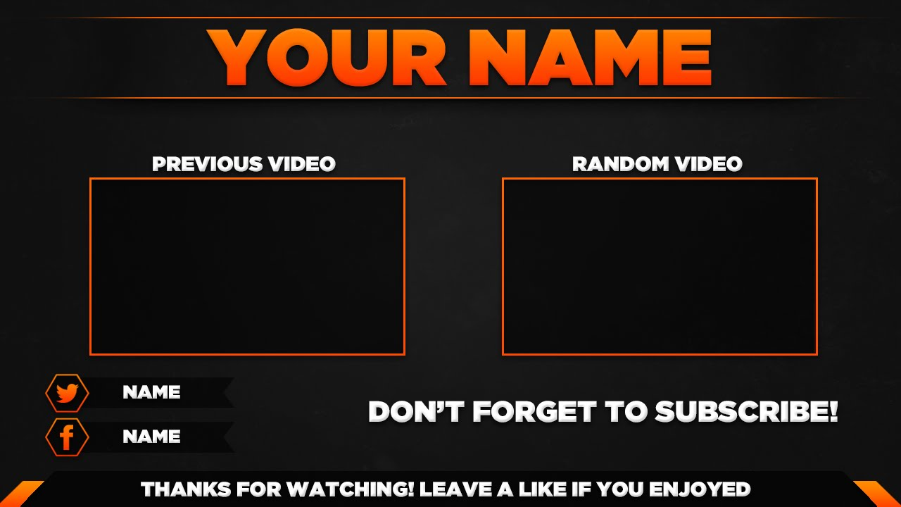 Outro template psd new 2015 youtube for Minecraft outro template movie maker