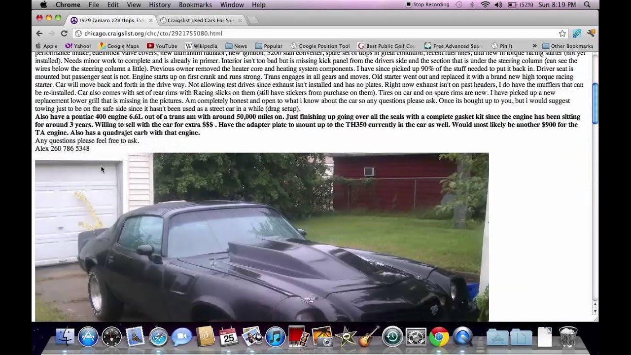 Chicago craigslist illinois used cars online help for trucks and vans youtube