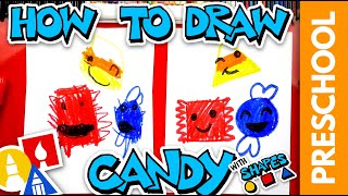 How To Draw Candy Using Shapes - Preschool