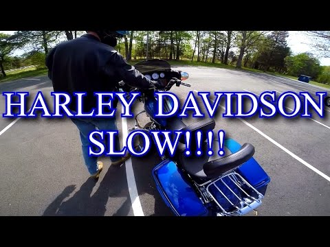 First Time Riding a Harley Davidson Motorcycle ITS SLOW!!!! 2017 Milwaukee Eight