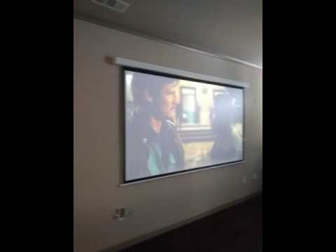 Garage Man Cave Projector : Projector in condo #mancave youtube