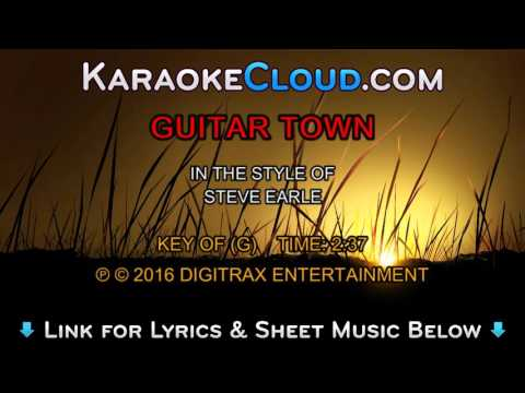Steve Earle - Guitar Town (Backing Track)