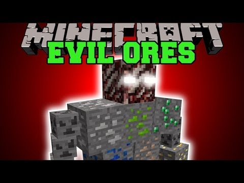 Minecraft: EVIL ORES (FAKE ORE MOBS, BOSS, DIMENSION, & MORE!) Mod Showcase
