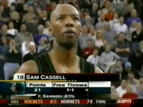 Sam Cassell (26pts/5asts/Post Moves) vs. Kings (2003)