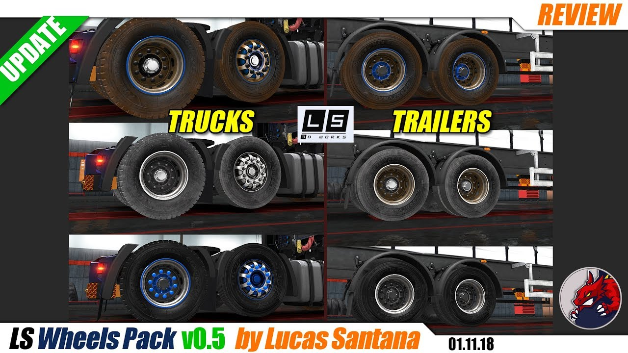 ETS2 (1 32)   `LS Wheels Pack` v0 5 by Lucas Santana - review by BEAST