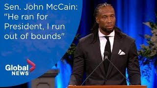 NFL star Larry Fitzgerald remembers visiting McCain's Vietnam cell