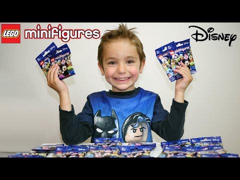 NOUVEAUX LEGO MINIFIGURES DISNEY - Serie Disney 71012 - Unboxing 15 packs !
