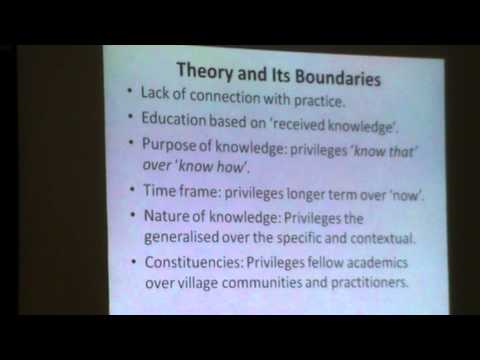 A case for the co-production & re-integration of practice and theory ( N Narain)