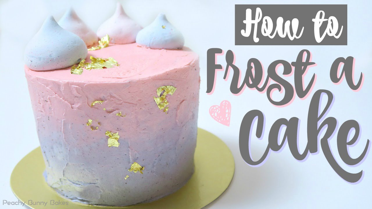 How To Frost A Cake Youtube